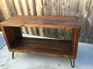 The honey box , consol table , entertainment center, media stand, reclaimed wood, craft furniture, for Sale in San Diego, CA