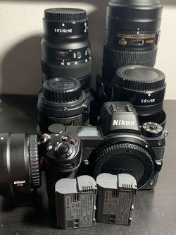 NIKON Z7 Full Frame Camera/ 4 PROFESSIONAL LENSES for Sale in Miami,  FL