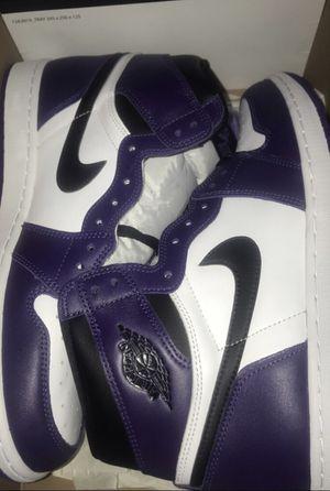 Jordan 1 court purple size 13 for Sale in Concord, CA