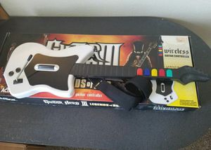 PS2 Guitar Hero Wireless Guitar with Strap (no dongle) for Sale in Aurora, CO