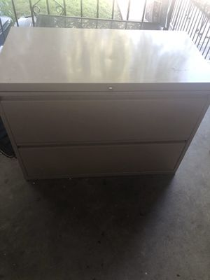 Aluminum 2 Drawer File Cabinet for Sale in Philadelphia, PA
