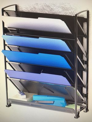 6 Tier Wall Mount Document Organizer and Desk Organizer for Sale in Raleigh, NC
