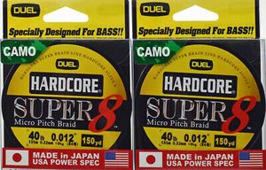 2 Duel Hardcore Super 8 Micro Pitch Braid 40 lbs fishing line for spinning / Baitcaster baitcast for Sale in Litchfield Park, AZ