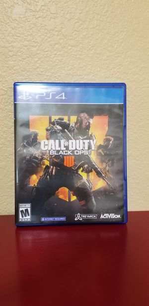 BLACK OPS 4 - PS4, FIRM PRICE, TRADE FOR MODER WARFARE ONLY for Sale in Garden Grove, CA