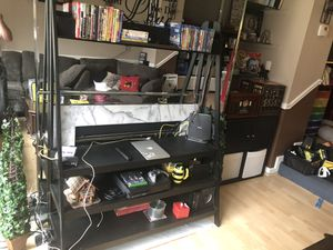 TV stand with shelves for Sale in Aspen Hill, MD