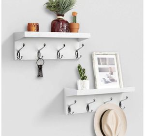 Floating Wall Shelves with Hooks for Sale in Marriottsville, MD
