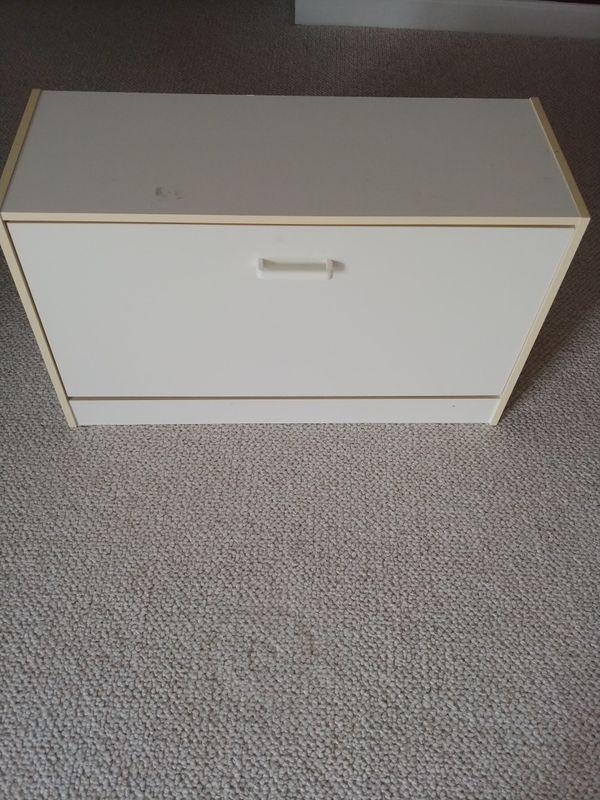 Shoes Storage Bench White