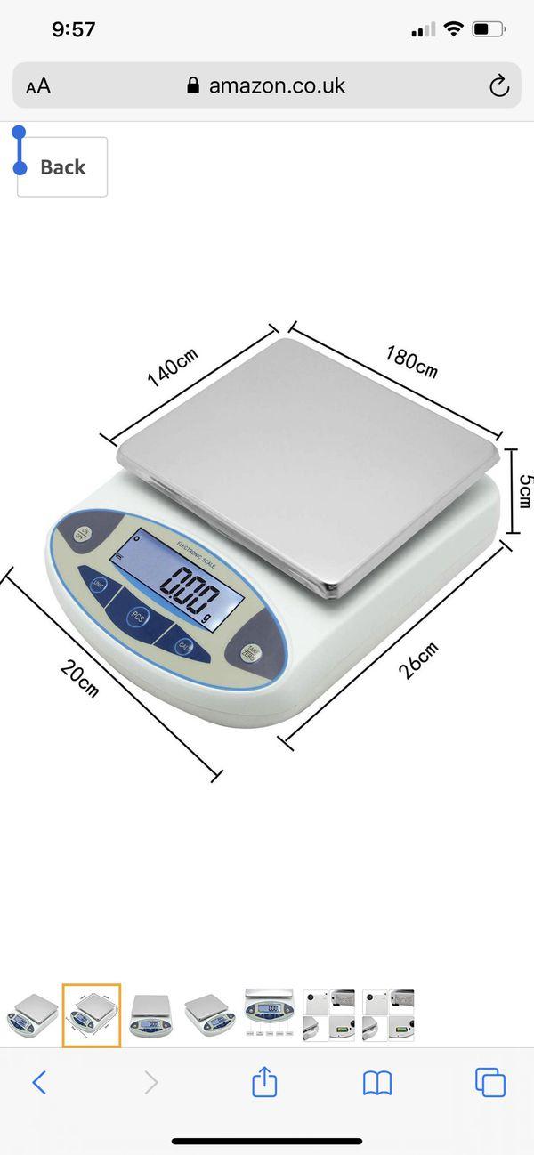 CGOLDENWALL Lab Digital Scales 0.01g Precision Analytical Electronic Balance Jewelry Scales Kitchen Weighing Scale Calibrated & Ready to Read (5000g,