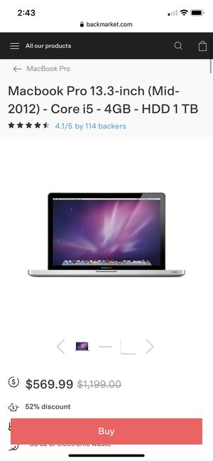 2012 macbook pro for Sale in Carver, MA
