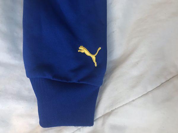 PUMA XXL HOODIE Blue/Yellow