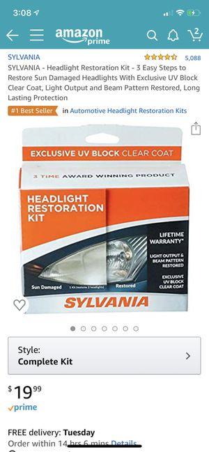Sylvania headlight restoration kit for Sale in Lynnwood, WA