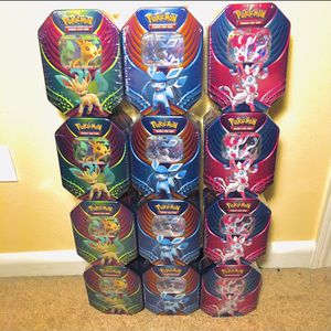 Pokemon Evolution Fall Celebration Tins [XY EVOLUTIONS PACKS INSIDE] for Sale in Glendale Heights, IL