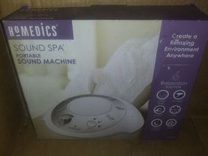 Homedics sound spa portable machine for Sale in Worcester, MA