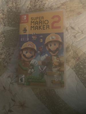 Super Mario Maker 2 For Nintendo Switch for Sale in Moreno Valley, CA