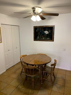 Solid wood maple kitchen round table and 4 chairs for Sale in San Diego, CA