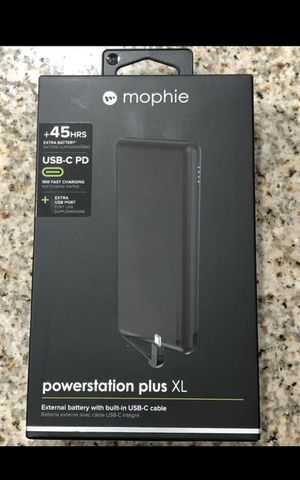 Brand new mophie powerstation Plus XL USB-C - Universal External Battery with built in Cables (12,000mAh) - Matte Black Asking $$25 FIRM NO LESS for Sale in South Gate, CA