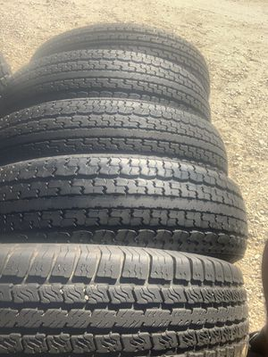 235-80-16 all four trailer tires 🔥🔥🔥🔥 for Sale in Rancho Cucamonga, CA
