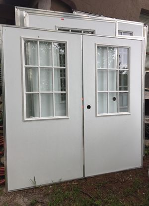 New aluminum shed doors. 72x80 , and 48 x80. $125.00 a piece for Sale in DeBary, FL