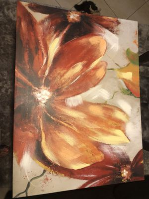 Flower wall painting, wall decor for Sale in Pembroke Pines, FL