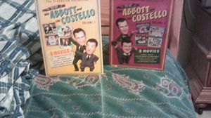 The franchise Collection (The Best of Abbott And Costello volume 1&2 2 boxes 3 DVDS in each box 8 movies in each box.first time in HD. for Sale in Kissimmee, FL