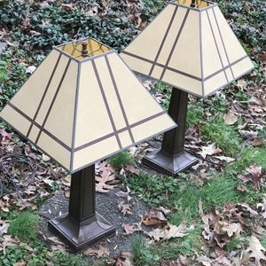 Mission Style Pair Of Lamps for Sale in Fairfax, VA