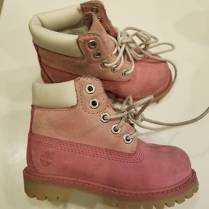 Toddler Timberlake girls pink boots sz for Sale in Ruskin, FL