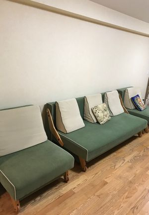 Modern Sofa Bed with pillows plus two chairs from Wieder. for Sale for sale  Brooklyn, NY