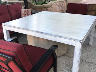 Large Square Farmhouse Distressed Table for Sale in Laguna Niguel,  CA