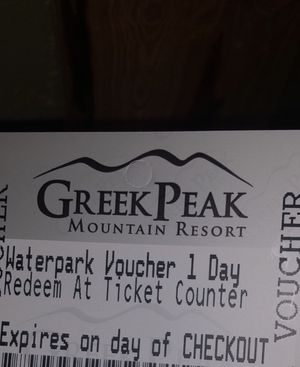 Water park pass checkout is tomorrow for Sale in Cortland, NY