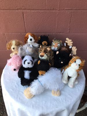 13 Webkinz Stuffed Animals Lot including black bears, a tiger, platypus, dogs, cats, cheetah, elephant, and a reindeer for Sale in West Linn, OR