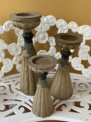 Candle Holders (Set of 3) for Sale in Miami, FL