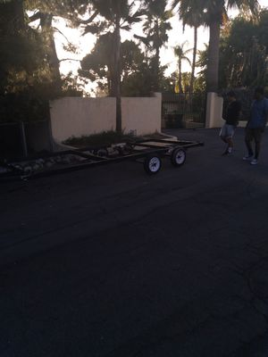 """TRAILER 18X6'8"""" double axle for Sale in Upland, CA"""