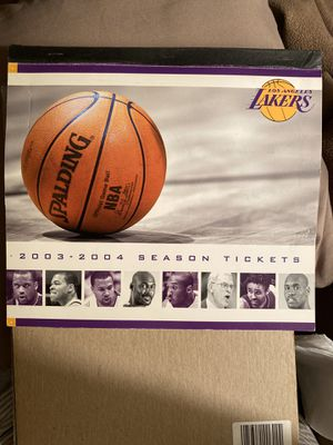 LAKER 2003/04 SEASON TICKETS BOOKLET and 2004 PLAYOFF BOOKLET for Sale in Ridgeland, MS