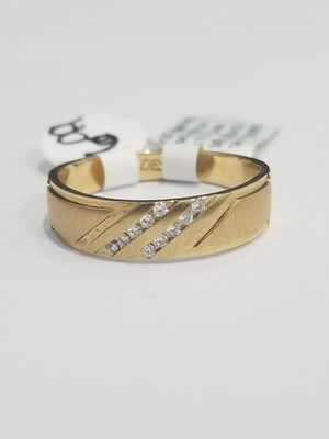 Yellow Gold Diamond 14k ring mens Band Wedding Bridal Christmas gift special for Sale in Richmond, TX