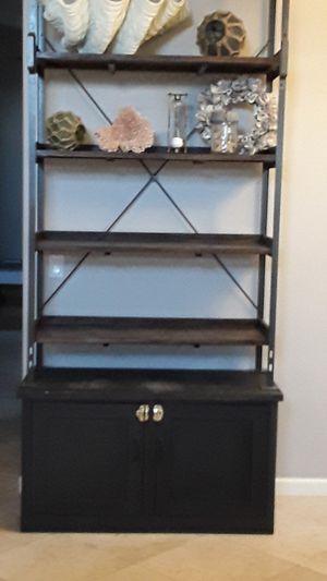 Large wood/metal shelving unit for Sale in Phoenix, AZ
