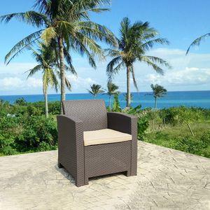 Patio Furniture Resin Plastic Rattan Pattern Furniture Outdoor Garden Single Sofa Armchair Outdoor for Sale in Atlanta, GA