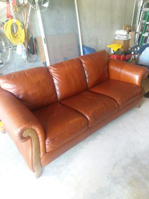 Real Leather Couch, for Sale in Smithfield, RI