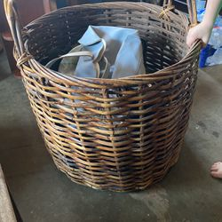 Large Basket With Bags Inside Purses , Luggage for Sale in Milwaukie,  OR