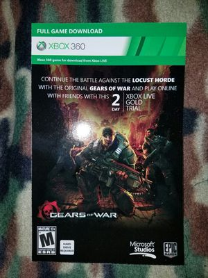 XBOX 360 - Gears of War (DLC - Full Game) for Sale in Chicago, IL