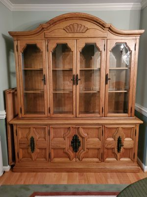 Must sell Now Large Antique Hutch..solid Oak. Thomasville for Sale in Cary, NC