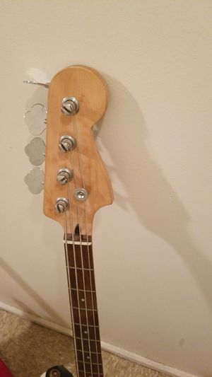 Electric Bass Guitar w/ strap for Sale in Indianapolis, IN