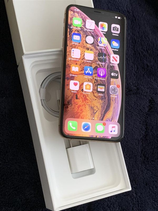 Iphone XS Max 256gb Factory Unlocked Gold Smartphone 100% battery New Condition Att Tmobile Worldwide