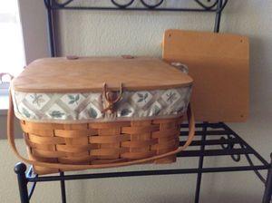 Longaberger small picnic basket for Sale in Ridgefield, WA