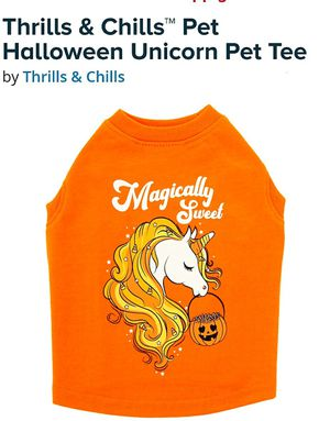 Thrills & Chills™ Pet Halloween Unicorn Pet Tee SMALL OR Medium for Sale in La Habra Heights, CA