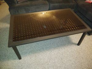 Outdoor smoked glass and aluminum table for Sale in Lynchburg, VA
