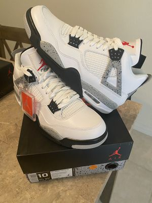 Air jordan 4 White cement Nike Air NEW DS size 10 100% authentic for Sale in Las Vegas, NV