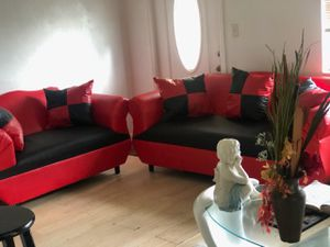 Sofa pillows couch whit pillows . 2 pcs brand new. Black and red for Sale in Miami, FL