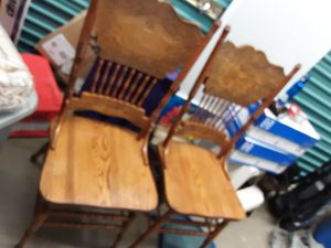 Amish made Solid Oak Dining Chairs (10) *$75.00 EACH for Sale in Lumberton, TX