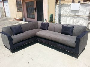 NEW 7X9FT ANNAPOLIS GRANITE FABRIC SECTIONAL COUCHES for Sale in Fontana, CA