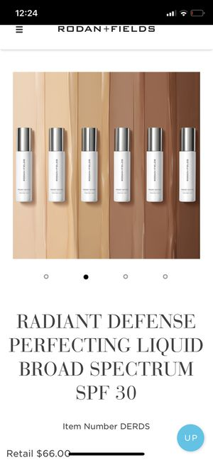Rodan n Fields RADIANT DEFENSE PERFECTING LIQUID BROAD SPECTRUM SPF 30 for Sale in San Diego, CA
